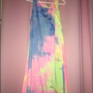 Tie-dye cover up dress